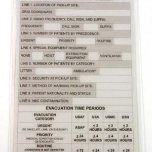 SKEDCO Extreme MedicineR Series First Responder 9 Line CASEVAC MEDEVAC Card